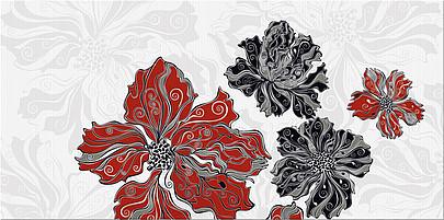 """Декоры Валькирия Азори: Декор Валькирия """"Цветы"""" 405x201"""